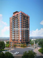 High-rise Architecture Design 3D rendering services with factory price