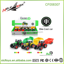 shantou toys 8pcs diecast mini pull back model farmer car tractor harvester trucks