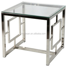Contemporary metal customizable coffee side table end table