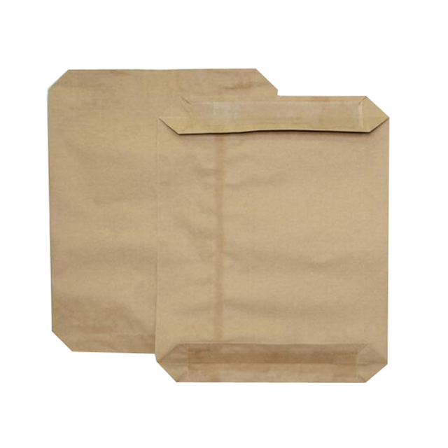 Customized tile adhesive charcoal mineral food chemical packaging square bottom valve kraft paper bag