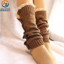 Fashion Girls Knitted Boot Cuffs Crochet Leg Warmer