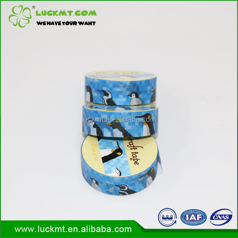 Waterproof Custom Cartoon Washi Paper Tape For Gift Box Wrapping