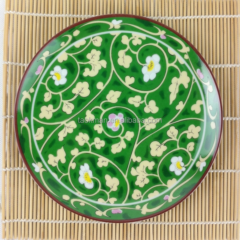 High quality Super White dinner plates with decal opal ceramic china plates