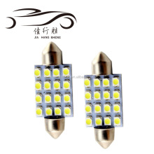 Hot Car interior accessories 12v dc led light bulb 39mm festoon 1210 16SMD led ceiling panel light