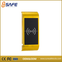 Shinning golden electronic small keyless cam lock for lockers