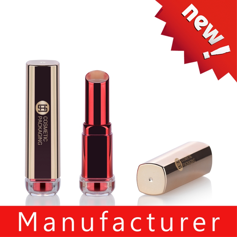 Wholesale empty glossy gold square empty lipstick