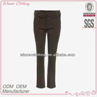 ladies latest design army green long casual pants