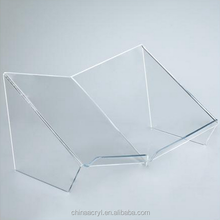 wholesale custom clear acrylic open book display stand
