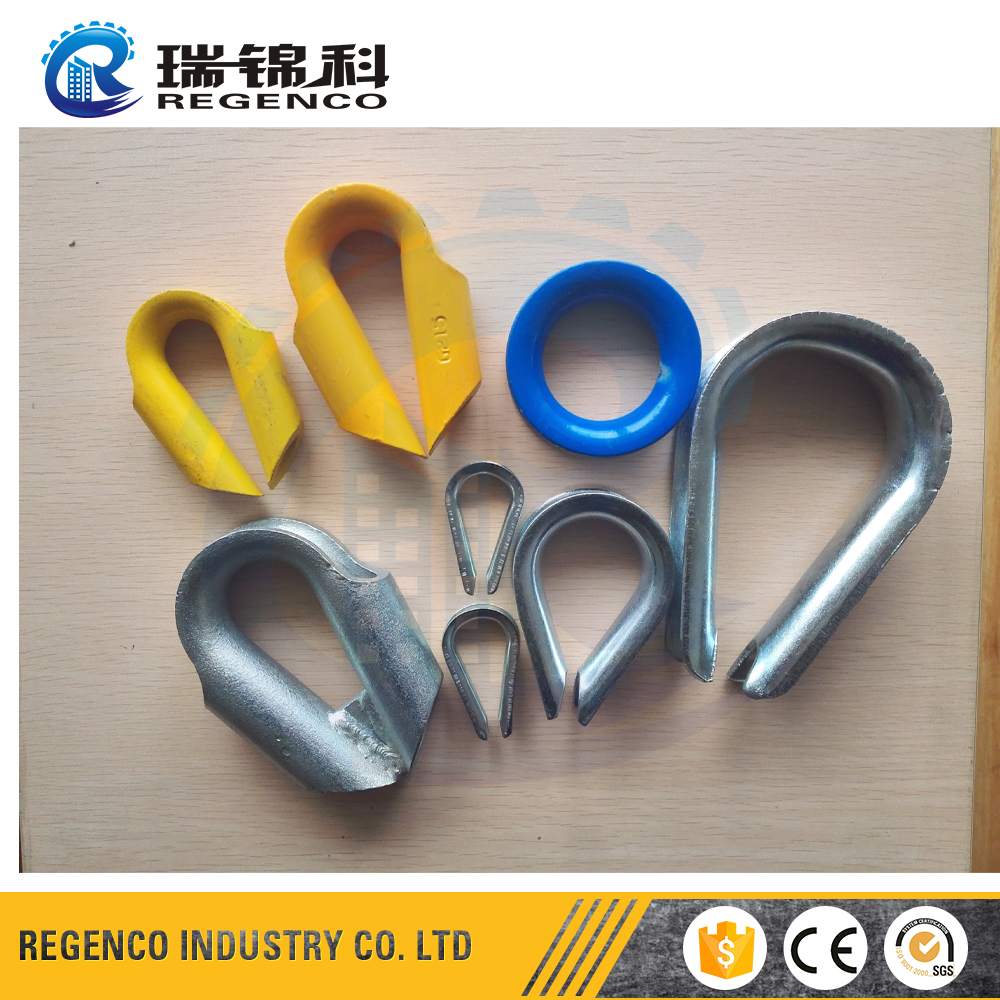 Custom Wire rope thimble construction Cable thimble Commercial aluminium thimble