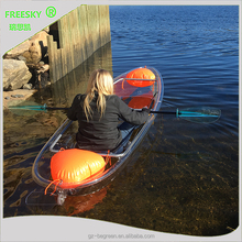 double seat pedal plastic 2 person transparent clear fishing kayak With Accessories