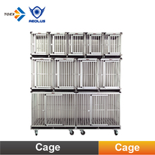 KA-507 Portable Aluminum Dog Cage Unique Folding Tube Dog Kennels Pet Supplies
