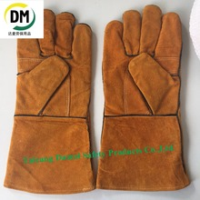 Labor protection weld applied safety working glove with cow leather