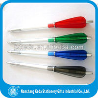 2 in 1 colorful boomerang shaped ball pen