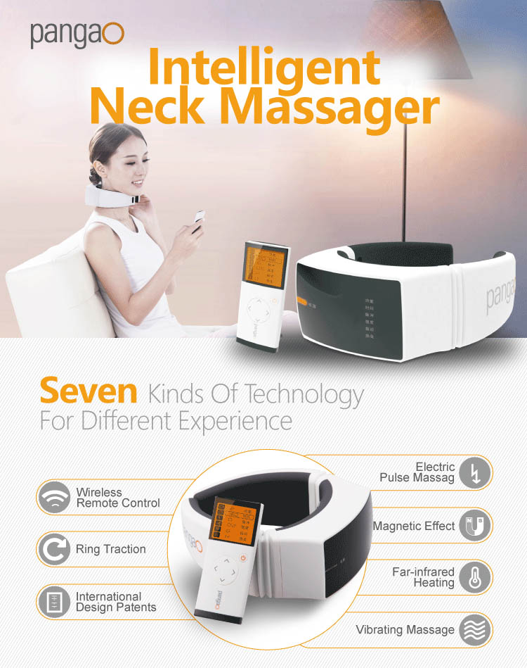Pangao Health Care Product Electronic neck shoulder massager with CE RoHS FDA