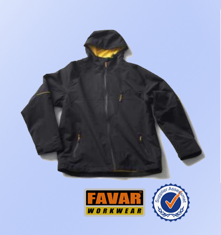 100% polyester outdoor coat fully seam taped construction