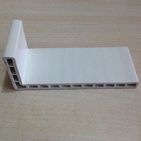 LANKE White louvered doors and windows frame profile with uPVC Raw Material