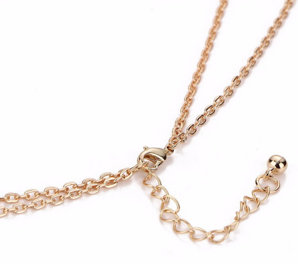 casual stone moon choker necklace fashion gold color crystal stone pendant necklace for women