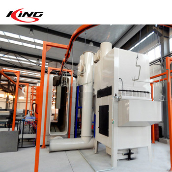 aluminum Fence powder coating spray booth and curing oven production line system