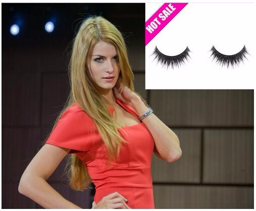 Human hair knitting synthetic knitting handmade eyelash