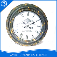 Decoration Bedroom Wrought Iron Wall Mount Theme Clock