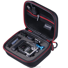 Smatree SmaCase G75- Small Case for Go pro H ero 4,3+,3,2,1 and SJ4000/SJ5000-Travel & Household Case with EVA Foam(Black&red)