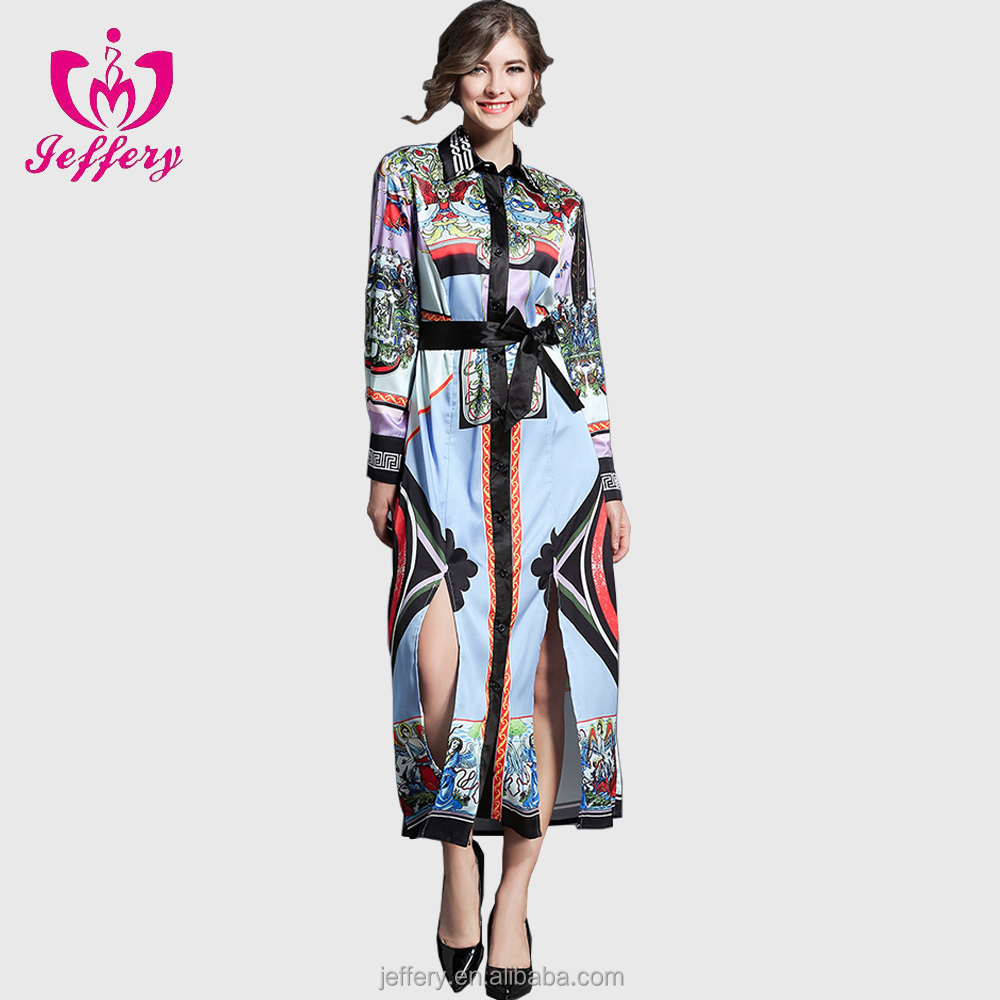 OEM Service European Style Latest Trends Women Dress Model