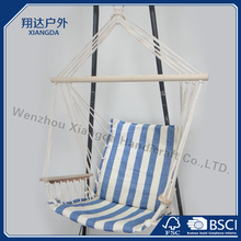 Gareden leisure hammock swing made by cootn fabric with sponge