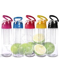 Eco Friendly Water Bottle with Fruit Infuser with Cap,700ml BPA FREE