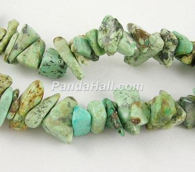 Loose Gemstone Chips Beads Strands Natural Green Turquoise Chips Stones Wholesale(F078)