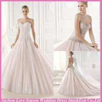 WD5324 2015 latest fashion bridal princess beaded wedding gown made in China