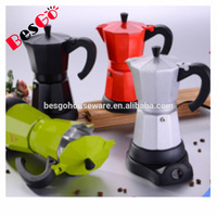 6 cup Stainless Steel Moka Coffee Maker / Electric Moka Pot