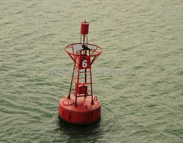 Marine steel navigation buoys