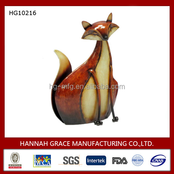 Metal Animal Ornament Fox Table Decoration