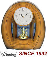 Plastic Material Wooden Color Table Clock