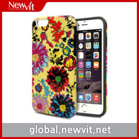 Newvit Tough case design with flower & paisley for iPhone 6 / Dual-layer design with protective TPU bumper