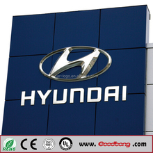 High Quality Full Colour UV Print Electronic Sign Board for pylon auto logo sign