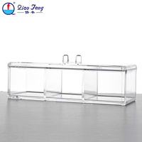 Light and handy canister set make up box clear