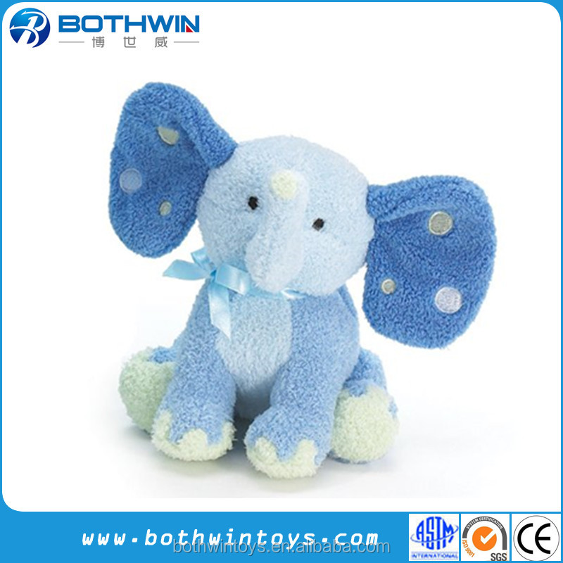 Babies Soft Toys Animal Cartoon blue elephant Stuffed Plush Toy