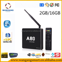 Quad core android 4.4 smart (A80)Octa-Core ARM chromecast wholesale android smart tv set top box android 4.4 wifi tv smart box