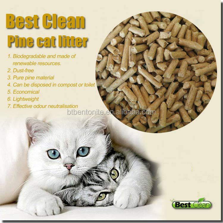 Natural eco-friendly pine wood cat litter