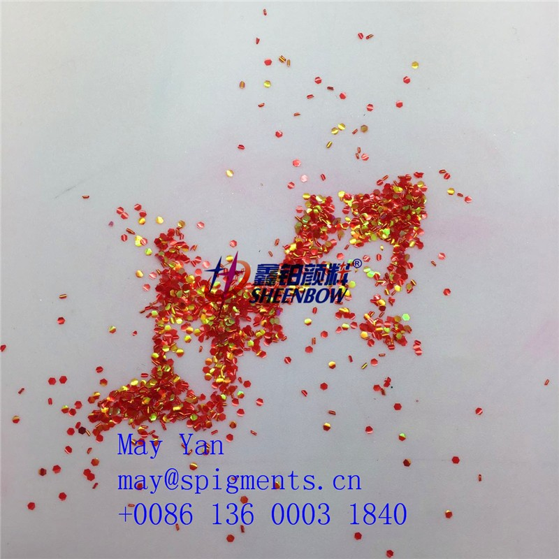 Sheenbow 2017 Wholesale Fish Scale Shape Glitter powder for Nail Art HW-LL23 L