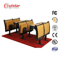 KD University School Student Lecture Chair and Tablet School Hall MDF Chiars