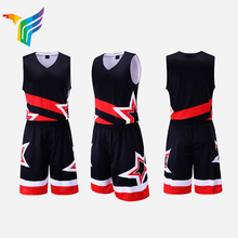 Popular moda personalizada sublimada negro simple <span class=keywords><strong>conjunto</strong></span> uniforme <span class=keywords><strong>de</strong></span> <span class=keywords><strong>baloncesto</strong></span> hecho en China