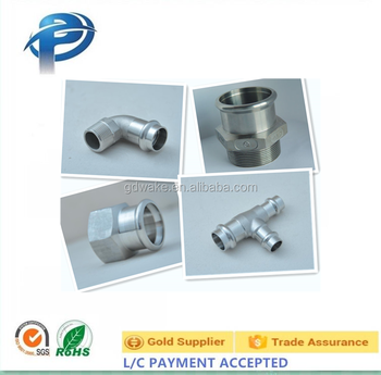 customized stainless steel male female tee elbow pipe fitting adapter