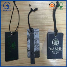 wholesale garment accessories fancy hang tags for t shirts