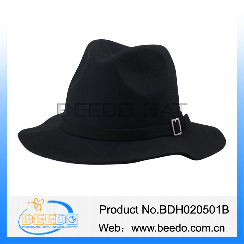 Classical men wool felt hillbilly hat wholesale