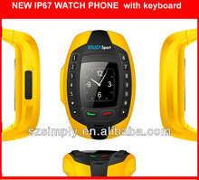IP67 wateproof new model hand phone with BT single sim