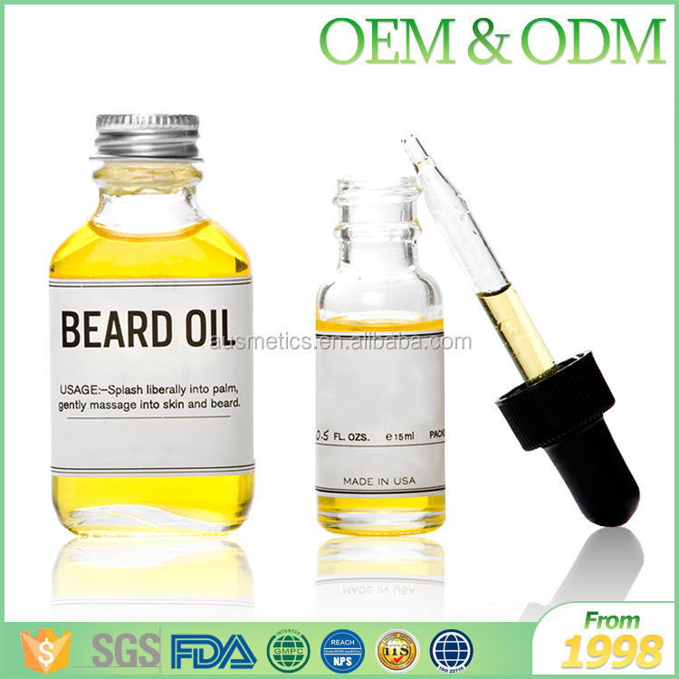 Private label FDA approved 30ml men sytling beard oil all natual organic beard oil