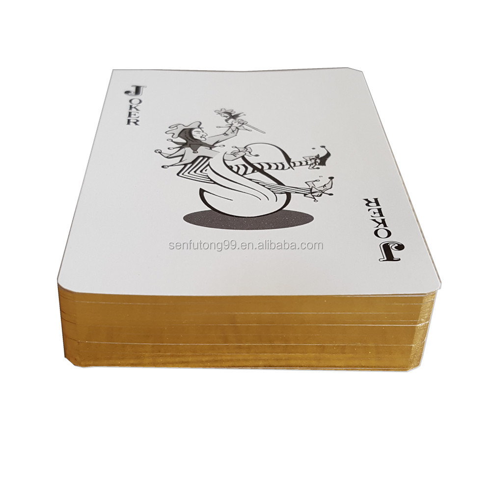 Hot sale customized gold foil playing cards with paper box
