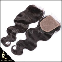 silk invisible part closure malaysian virgin hair,natural color body wave 12''~20'' wholesale price